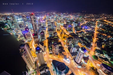 Brisbane City Lights from 70 Stories copy